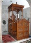 Mebel Jepara Mimbar Masjid Atap Kubah Kode ( MM 017 )