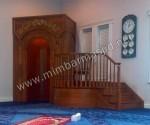 Mimbar Masjid Minimalis Kaligrafi Jepara Kode ( MM 004 )
