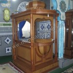 Mimbar Masjid Minimalis Mewah Kayu Jati