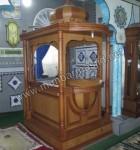 Mimbar Masjid Minimalis Mewah Kayu Jati Kode ( MM 008 )