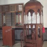 Mimbar Masjid Atap Kubah Model Lingkaran