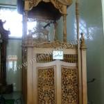 Mimbar Masjid Jepara Ukiran Kubah Jati