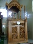Mimbar Masjid Jepara Ukiran Kubah Jati Kode ( MM 053 )