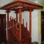 Mimbar Masjid Lurusan Kayu Jati Atap Kubah