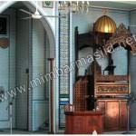 Mimbar Masjid Paka Atap Kubah