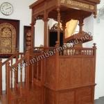 Mimbar Masjid Ukir Lemahan Kayu Jati Jepara