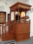 Mimbar Masjid Ukir Lemahan Kayu Jati Jepara Kode ( MM 054 )