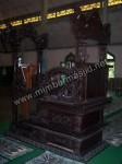 Mimbar Masjid Ukir Model Kuno Kode ( MM 038 )