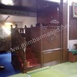Mimbar Masjid Ukir Tangga Samping