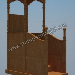 Mimbar Masjid Minimalis Tanpa Ukiran