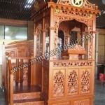 Desain Mimbar Masjid Atap Kubah Asli Jepara