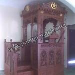 Desain Mimbar Masjid Atap Kubah Tampak Samping