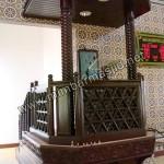 Jual Mimbar Masjid Ukir Dari Kayu Jati