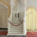 Mimbar Masjid Duco Putih Model Atap Kubah