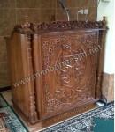 Mimbar Masjid Ukir Kaligrafi Jepara Kode ( MM 087 )
