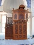 Mimbar Masjid Ukir Kayu Jati Jepara Kerawangan Kode ( MM 088 )