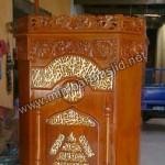 Mimbar Podium Masjid Kayu Jati Ukiran