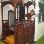 Ukiran Kerawang Mimbar Masjid Jepara