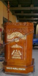 Pesanan Khusus Mimbar Podium Masjid Darul Hidayah