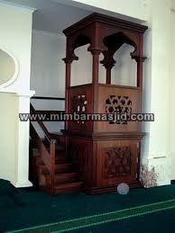 Harga Mimbar Masjid Mewah Salak Brown