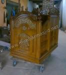 Mimbar Masjid Ukir Kayu Jati Kode ( MM 010 )