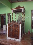 Mimbar Masjid Kubah Finishing Marmer Jepara Kode ( MM 050 )