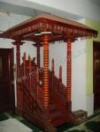 Mimbar Masjid Lurusan Kayu Jati Atap Kubah Kode ( MM 047 )