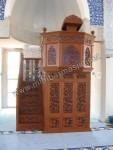 Mimbar Masjid Ukir Kerawang Tangga Kode ( MM 034 )