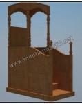 Mimbar Masjid Minimalis Tanpa Ukiran Kode ( MM 081 ))