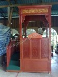 Mimbar Masjid Ukir Kubah Kayu Jati Kode ( MM 090 )