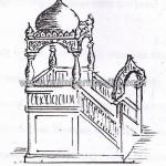 Sketsa Mimbar Masjid Kubah