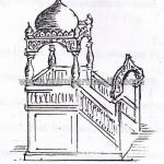 Sketsa Mimbar Masjid Kubah MM 189