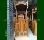 Furniture Jati Mimbar Ukir Kubah Promo Stock Mimbar MM 220