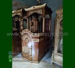 Furniture Jepara Mimbar Masjid Ukir Atap Kubah Furniture Stock Kode MM 218