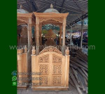 Furniture Jepara Mimbar Ukir Kubah Promo Stock Mimbar MM 268