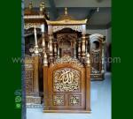 Furniture Modern Mimbar Masjid Kubah Jati Product Paling Laris MM 199