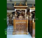 Furniture Stock Mimbar Kubah Jati Jepara Produk Unggulan Mewah MM 202