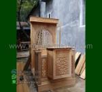 Furniture Stock Mimbar Masjid Ukir Atap Kubah Desain Paling Laku MM 302