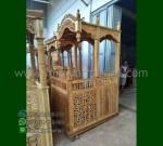 Mebel Jati Mimbar Masjid Jati Atap Kubah dengan Special Produk MM 246