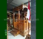 Mebel Jati Mimbar Ukiran Atap Kubah Ready Order 085290206219 MM 221