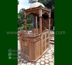 Mebel Jepara Mimbar Masjid Jati Atap Kubah dengan Special Produk MM 294