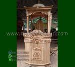 Mebel Ukiran Mimbar Masjid Atap Kubah Produk Terlaris MM 267