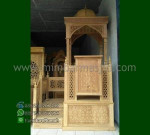 Mebel Ukiran Mimbar Masjid Kubah Promo Furniture Terlaris MM 192
