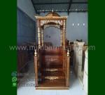 Mebel Ukiran Mimbar Masjid Ukir Atap Kubah Furniture Stock Kode MM 242