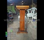 Mimbar Jati Kaca Produk Unggulan 085290206219 Mebel Jati MM PM 1206