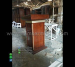 Mimbar Jati Minimalis Furniture Modern Stock Mebel Terbaru MM PM 1270