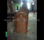Mimbar Masjid Jati Mebel Jepara Promo Furniture Terlaris MM PM 1332