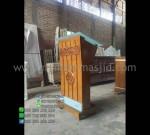 Mimbar Masjid Minimalis Hpl Produk Pilihan Furniture Stock Kode MM PM 1310