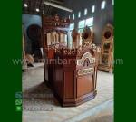 Paling Laris Mimbar Masjid Atap Kubah Toko Online Furniture Ukiran MM 207
