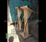 Podium Kayu Jati Minimalis Furniture Stock Toko Online Furniture Minimalis MM PM 1273